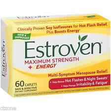 60 Estroven Menopause Relief MAXIMUM Strength One Per Day 60 Caplets Night Sleep