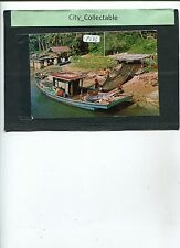 P686 # MALAYSIA USED PICTURE POST CARD * A FISHING BOAT IN THE EAST COAST