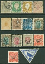 ICELAND : Nice clean group of Early Mint & Used. Catalog $450.00.