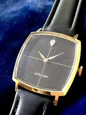 Big Case Vintage Wittnauer Longines Diamond Dial New Leather Band FREE SHIPPING