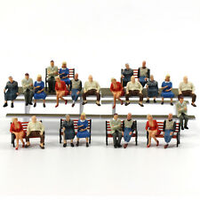 P4804 24 pcs All Seated Figures O scale 1:48 Painted People Model Railway NEW