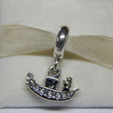 New Authentic Pandora  Charm 791143CZ Gondola Venice Bead Box Included