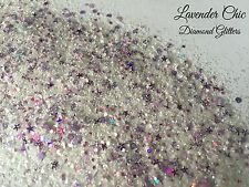 Mixed glitter Gel/acrylic Nail art White Purple Mix 6g Bag Lavender Chic