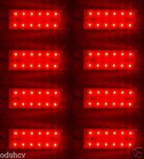 8x ROSSO 12 SMD LEDs POSTERIORE LATO LUCI DI POSIZIONE RIMORCHIO CAMPER