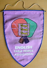 old ENGLISH Table Tennis ASSOCIATION Pennant LARGE Ping Pong TT ENGLAND