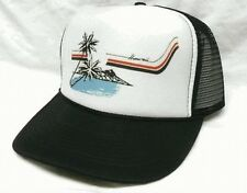 Hawaii Trucker Hat Mesh Hat NEW black Snap Back Hat
