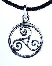 petit Triskele Pendentif Argent 925 avec collier Triskel Triskèle Spirale