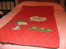 Vintage Snoopy and Woodstock Sleeping Bag (Boy Scouts/Scout Master Snoopy)