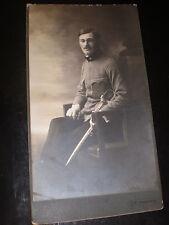 Large Cabinet photograph soldier by langhans Kral Hradec Czech republic c1900s