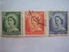 1953 New Zealand Q.E II Stamps, Used - Lot#2