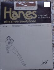 ~ NEW SEALED HANES UTLTRA SHEER PANTYHOSE LITTLE COLOR NUDE HEEL AND TOE