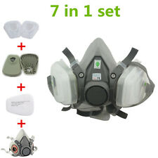 1 Set For 3M 6200 Gas mask Half Face Spray Painting Protection Respirator 7 pcs