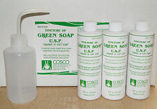 3x 8oz. BOTTLE COSCO TATTOO GREEN SOAP WITH 8oz.PLASTIC DIFFUSER BOTTLE KIT