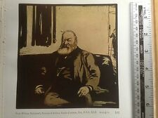 1920s Woodcut Portrait of Andrew Ainslie Common by William Nicholson