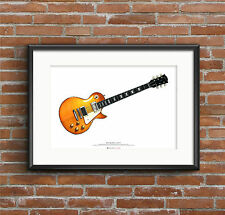 Jimmy Page's 1959 Gibson Les Paul #1 guitar ART POSTER A2 size