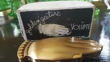 """Rare Volupte """"Golden Gesture"""" Compact Engagement Ring w/Org. Box, Puff & Sleeve"""