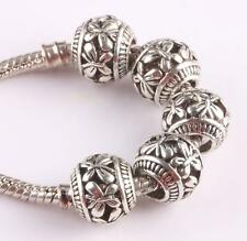 10pcs retro Tibetan silver spacer beads fit Charm European Bracelet AS418 DH
