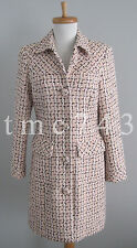 Size 4 Small INC Pink Black & White Boucle Tweed Lined Winter Coat