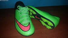 Nike Mercurial Neon Green Youth/Kids Cleats Shoes 651642 size 3.5Y