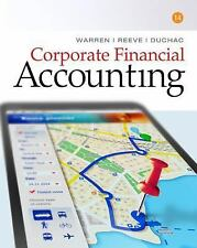 CORPORATE FINANCIAL ACCOUNTING - NEW HARDCOVER BOOK
