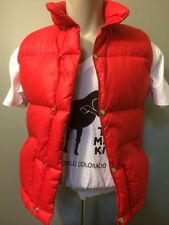 Vintage North Face Down Puffy Vest Puffer Xxs Red Rip Stop Snap Brown  70s 80s