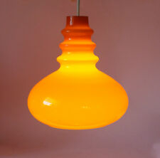 Mid-Century Modern orange glass Light PENDANT LAMP PEILL PUTZLER 60s 70s germany