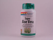 Solaray Super Aloe Vera Gel Concentrate 100 Easy to Swallow Capsules