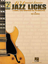 101 Must Know Jazz Licks Learn to Play Guitar TAB Music Book & CD LESSON TUTOR