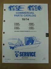 1991 Johnson Evinrude 10 & 14 HP Commercial Outboard Motor Parts Catalog 434257