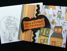 Handmade HALLOWEEN Card Using Stampin Up! GLITTER BAT Witches on Envelope