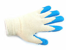 300 Pairs Blue Double Dipped Latex Palm Coated Work Safety Gloves =Made in Korea