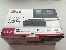 LG ORIGINAL SP520 NETWORK MEDIA PLAYER WIRELESS 3D WI-FI USB-2.0 HDMI NO REMOTE