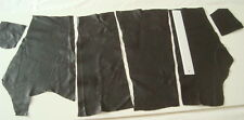 BLACK LEATHER REMNANTS - REPAIRS, SLEEVE PATCHES -  #2613