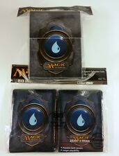 80 ultra pro sleeves + deckbox set-mana 3 Blue mtg magic tarjetas fundas Deck