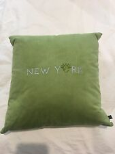 Ultra Bella Green Suede Swarovski Crystal Pillow New York