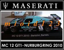 1/43 - Maserati 100 Years Collection : MC12 GT1 Nürburgring 2010 - Die-cast