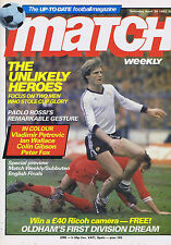 MAN UTD / LIVERPOOL / IAN WALLACE NOTTS FOREST Match Apr 30 1983