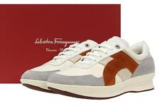 NEW SALVATORE FERRAGAMO NART LEATHER LOGO PLATFORT SNEAKERS SHOES 45.5/11.5 EE