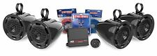 MTX BORVKIT2 Bluetooth Controlled MOTORSPORT Amplifier and 4 Speaker Package ATV