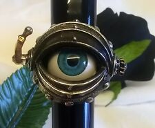 ALCHEMY RING - AUTOMATON'S EYE - UK SIZE T - ROSENSTEIN STEAMPUNK JEWELLERY