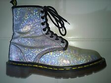 DOC DR MARTENS HOLOGRAPHIC SILVER METALLIC BOOT MADE IN ENGLAND RARE VINTAGE 5UK