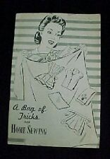 Vintage Bag Of Tricks Book Cotton Feedsack Flour Sack Uses Reproduction
