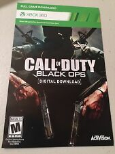 Call of Duty: Black Ops (Microsoft Xbox 360, 2010)  DIGITAL DOWNLOAD CARD