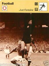 FICHE CARD : Just Fontaine  Maroc FRANCE  INTERNATIONAL FOOTBALL 70s