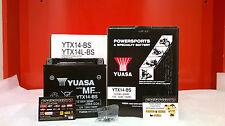 BATTERIE PIAGGIO YUASA YTX14-BS GELADEN X8 400 2006 2007 2008