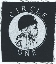 CIRCLE ONE army skull CLOTH PATCH -sew on , punk **FREE SHIPPING**