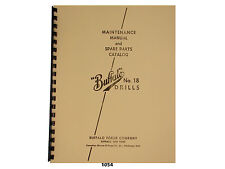 Buffalo Forge No.18 Drill Press Early Style Maint. & Spare Parts Manual  *1054