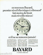 PUBLICITE ADVERTISING 076  1966  le réveil Bayard  vibra-son