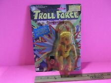 """#03  Troll Force Wrestlers Big T 5.5""""in Figure  """"Package yellowed & Cracked"""""""