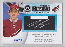 BRANDON GORMLEY 2014-15 The Cup Auto Rookie Draft Boards #D 12/25 Avalanche RC